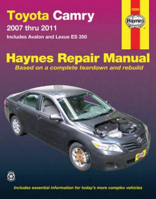 Toyota Camry And Avalon & Lexus Es 350 Haynes Repair Manual 2007 -2011