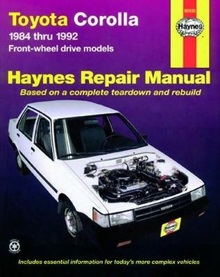 Toyota Corolla Haynes Repair Manual 1984-1992
