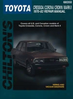 Toyota Cressida Corona Crown & Mkii Chilton Manual 1970-1982