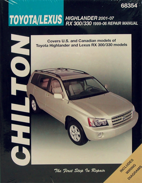Toyota Highlander & Lexus Rx300/330 Repair Chilton Manual 2001-2007