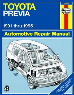 Toyota Previa Haynes Repair Manual 1991 - 1995