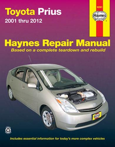 Toyota Prius Haynes Repair Manual 2001-2012
