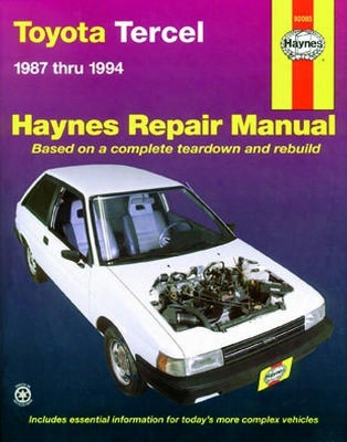 Toyota Tercel Haynes Repair Manual 1987-1994
