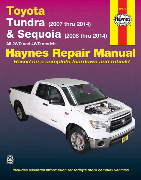 Toyota Tundra & Sequoia Haynes Repair Manual 2007-2014
