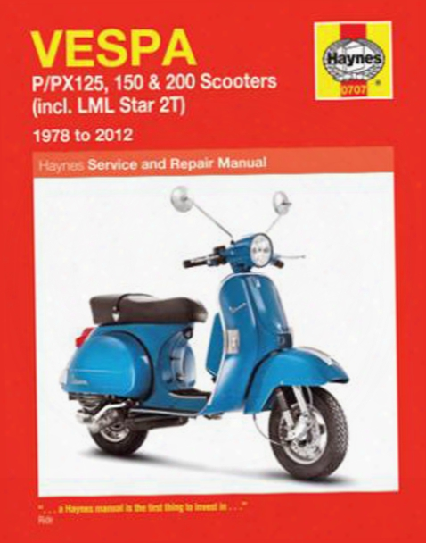 Vespa P/px 125 Haynes Repair Manual 1978-2012