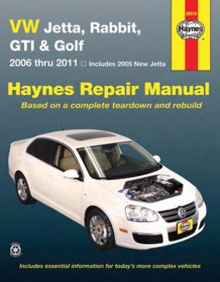 Volkswagen Jetta Rabbit Gti & Golf Haynes Repair Manual 2006-2011
