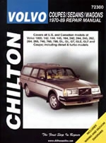 Volvo Coupes/sedans/wagons 1970-89 Chilton Manual