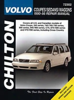 Volvo Coupes/sedans/wagons 1990-98 Chilton Manual