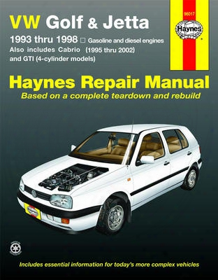 Vw Golf Gti & Jetta & Cabrio Haynes Repair Manual 1993-2002