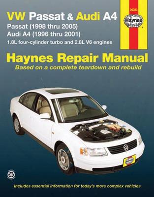 Vw Passat & Audi A4 Haynes Repair Manual 1996-2005