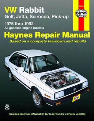 Vw Rabbit Golf Jetta Scirocco & Pick-up Haynes Repair Manual 1975-1992