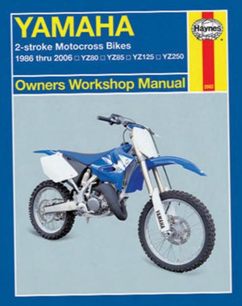 Yamaha 2-stroke Motorcross Bikes Haynes Repair Manual 1986 - 2006