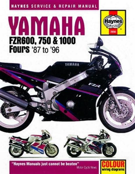 Yamaha Fzr600 750 And 1000 Haynes Repair Manual 1987 - 1996