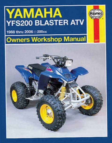 Yamaha Yfs200 Blaster Atv Haynes Repair Manual 1988 - 2006