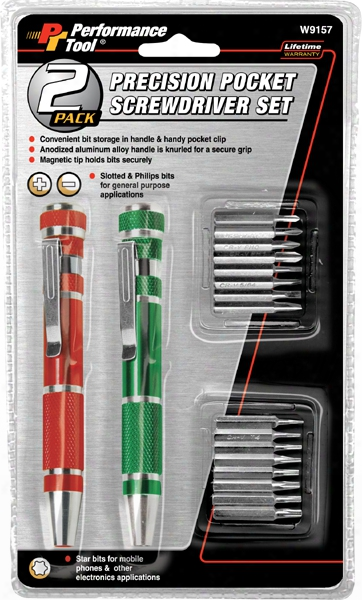 2 Piece Precision Pocket Screwdriver Set