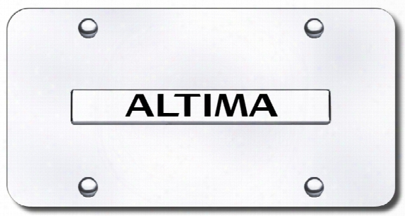 3d Chrome Nissan Altima Stainless Steel License Plate