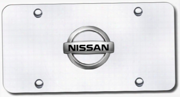 3d Chrome Nissan Logo Stainless Steel License Plate