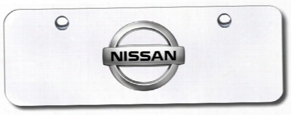 3d Chrome Nissan Logo Stainless Steel Mini License Plate
