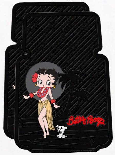 Betty Boop Aloha Rubber Floor Mats Pair