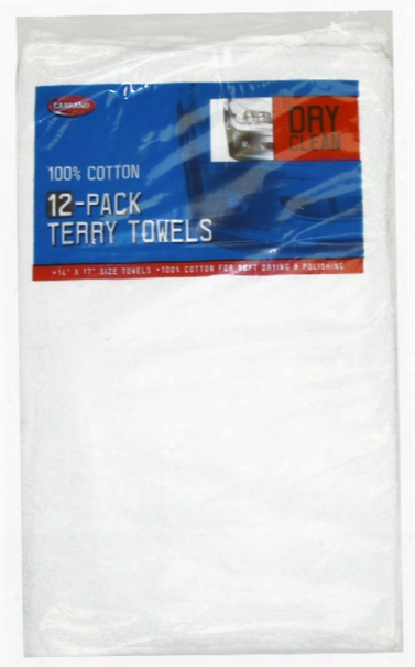 Carrand Cotton Terry Towels 12 Pack