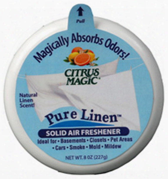 Citrus Magic Pure Linen Solid Air Freshener 3.5 Oz.