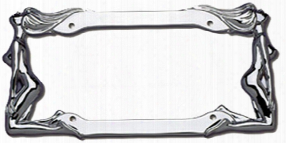 Cruiser Twin Women Chrome License Plate Frames