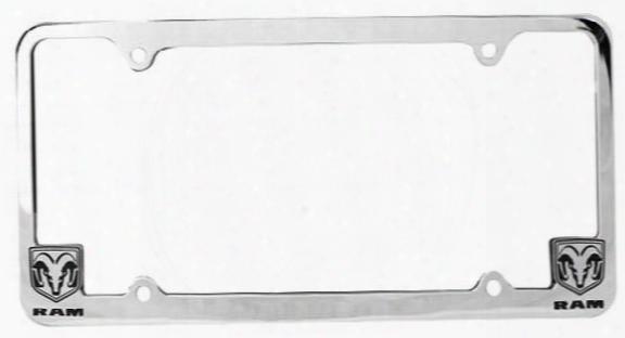 Dodge Ram Logo Chrome License Plate Frame