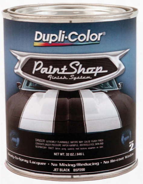 Dupli-color Paint Shop Jet Black 32 Oz.