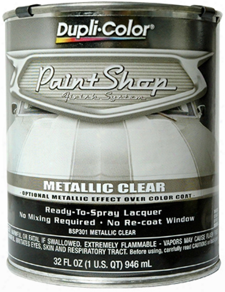 Dupli-color Paint Shop Metallic Clear Coat 32 Oz.