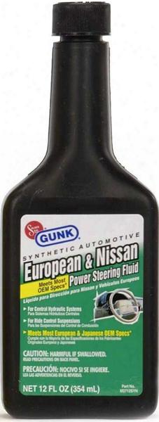 Gunk Synthetic European & Nissan Power Steering Fluid 12 Oz.