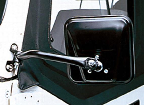 Jeep Wrangler Black Cj-style Side Mirrors-pair 1997-2006