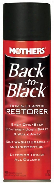 Mothers Back-to-black Trim & Plastic Restorer Aerosol 10 Oz