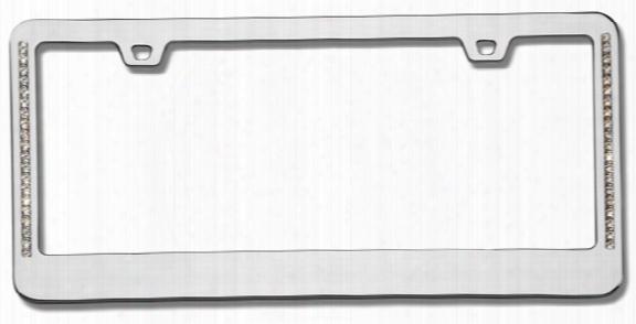 Neo Diamondesque Chrome License Plate Frame