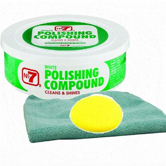 No.7 White Polish Compound Microfiber Cloth & Foam Pad Kit