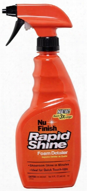 Nu Finish Rapid Shine Foam Detailer 15 Oz