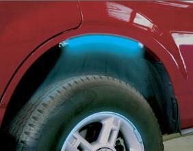 Pacer Multi-purpose Wheel Well Blue Led Light Tube Strips 4 Pack