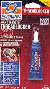 Permatex High Strength Threadlocker Red
