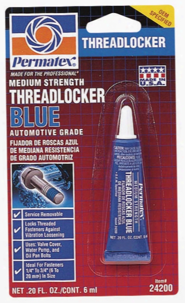 Permatex Medium Strength Threadlocker Blue .20 Oz.