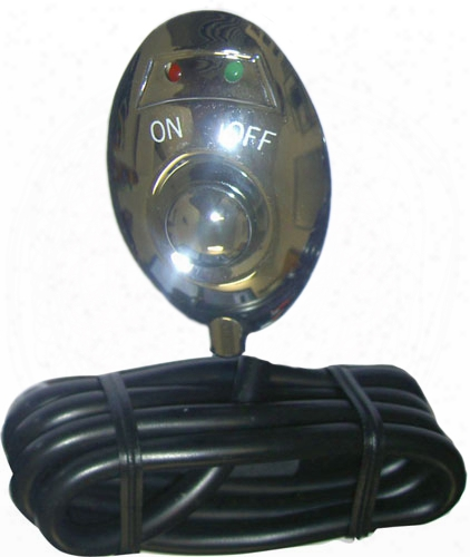 Pilot Chrome Green Led Push Button Switch
