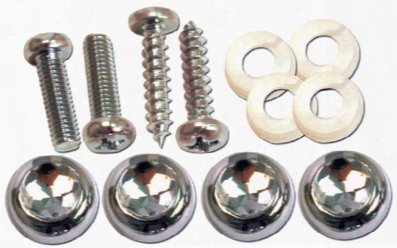 Pilot Diamond Cap License Plate Fasteners