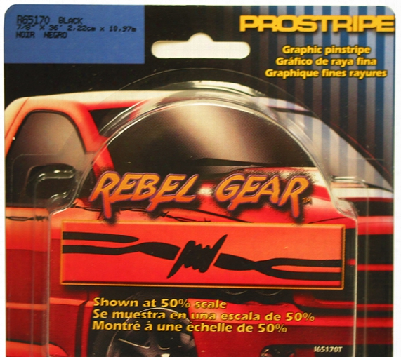 "Prostripe Rebel Gear Black Barbwire Pinstripe 7/8"" X 36ft"
