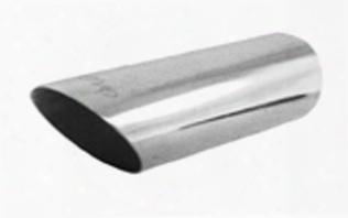 """Ractive 2"""" Round Slant Cut Weld-on Exhaust Tip T011"""