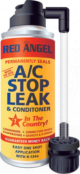 Red Angel A/c Stop Leak & Conditioner With Uv Dye & Applicator - 2 Oz.
