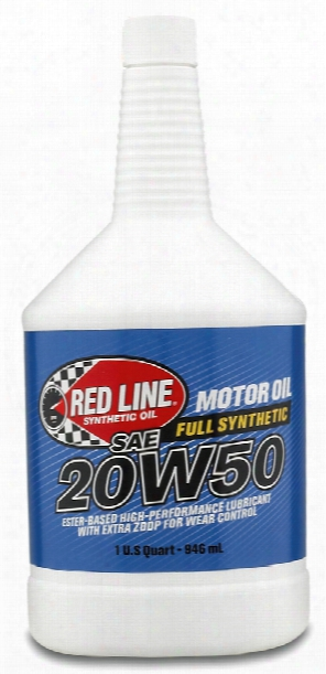 Red Line 20w50 Synthetic Motor Oil 1 Qt.