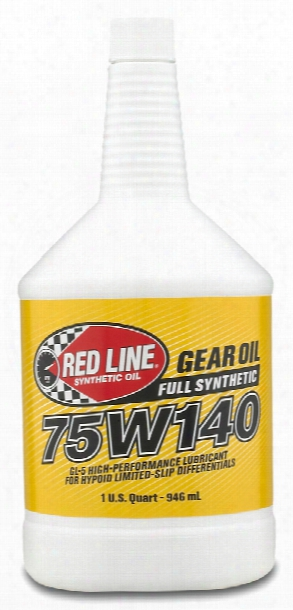 Red Line 75w140 Synthetic Gear Oil 1 Qt.