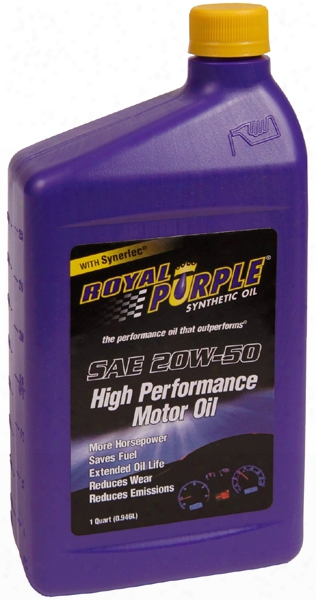 Royal Purple 20w50 Motor Oil 1 Qt.