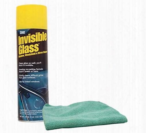 Stoner Invisible Glass Aerosol Glass Cleaner 19 Oz. & Microfiber Cloth Kit