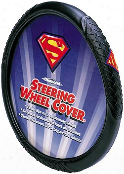 Superman Logo Steering Wheel Cover