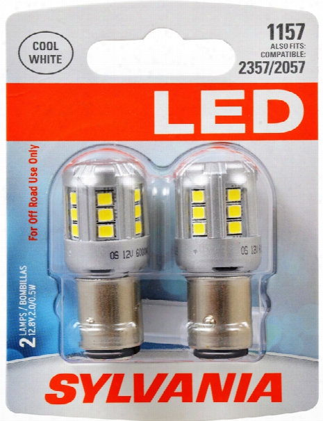 Sylvania 1157 Led Cool White Miniature Bulbs Pair