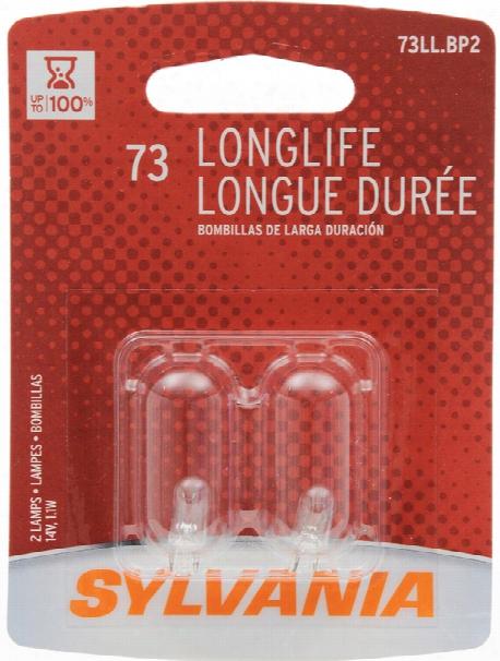 Sylvania 73ll Long Life Mini Bulbs Pair
